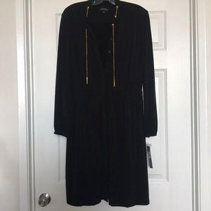 Tahari matte jersey dress